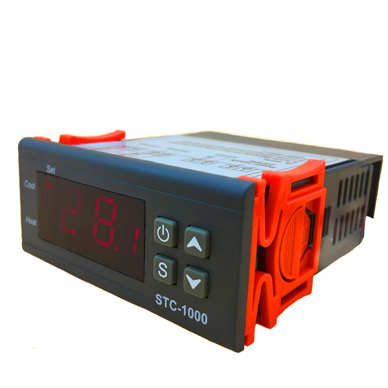 Dual Heating/refrigeration Plug In Temperature Controller/thermostat For Frozen Food Freezer With Compressor Stc-1000