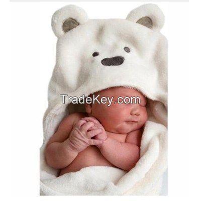 Lovely baby wool bath towel cute animal shape baby boy hooded towel coat baby blanket infant wrap waiting to be