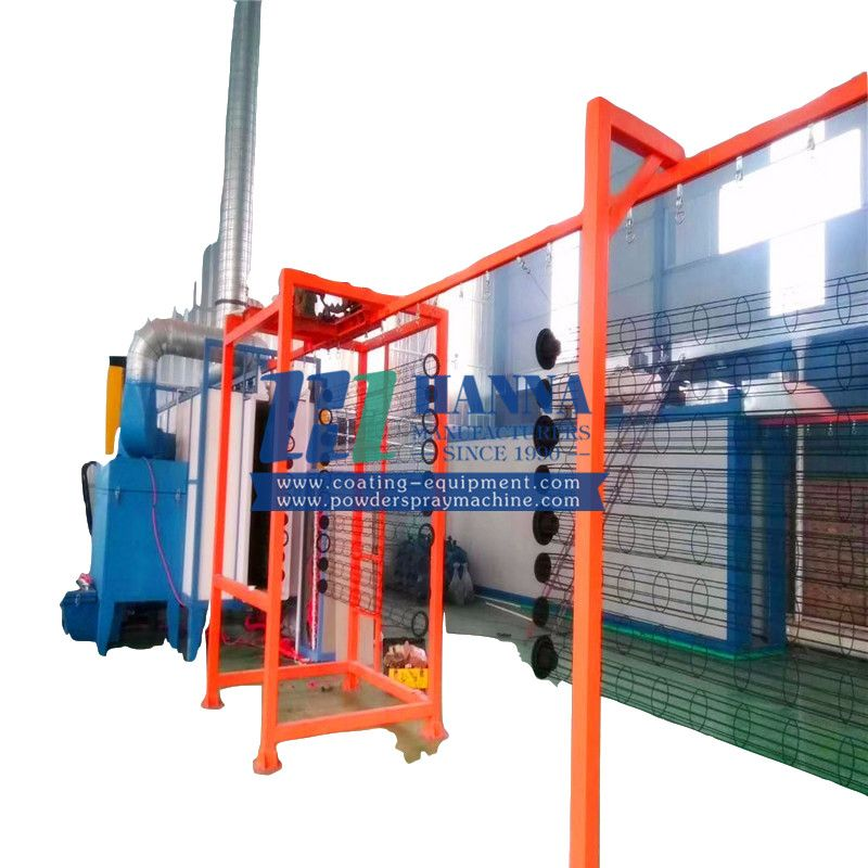 New Automatic Powder Coating Line for Furniture Powder Spraying