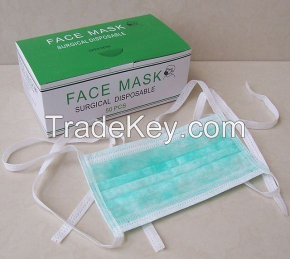 3-ply Non-woven Disposable Surgical Face Mask with Ear-loop