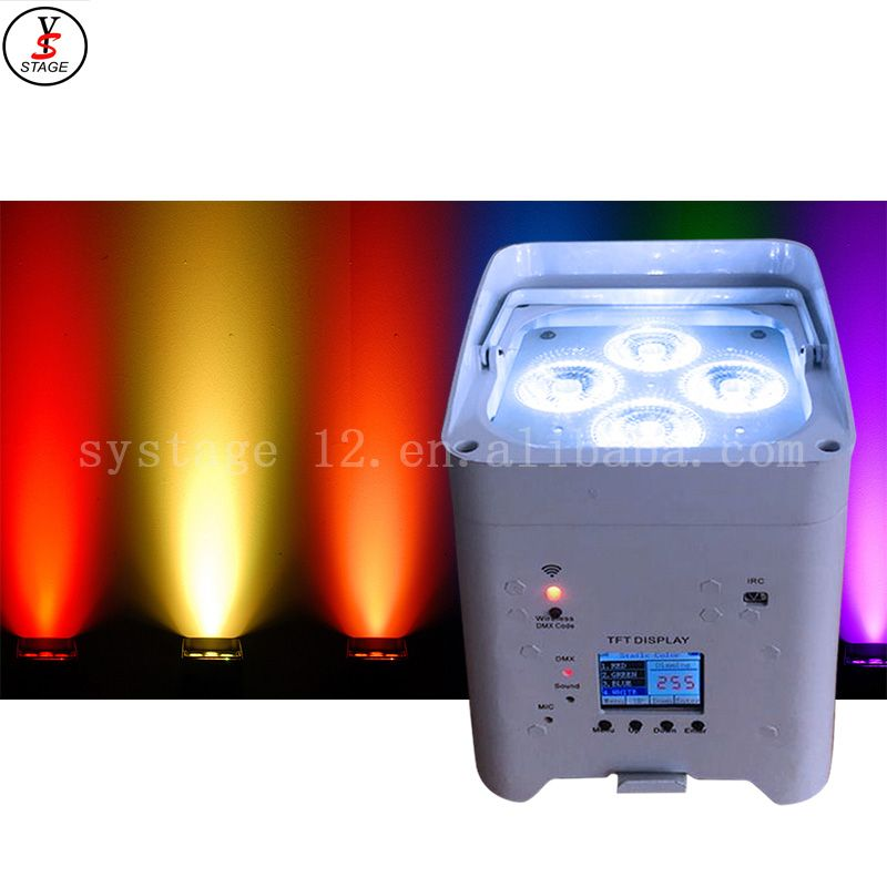 dj stage LED battery par power wireless mobile control remote portable wash light