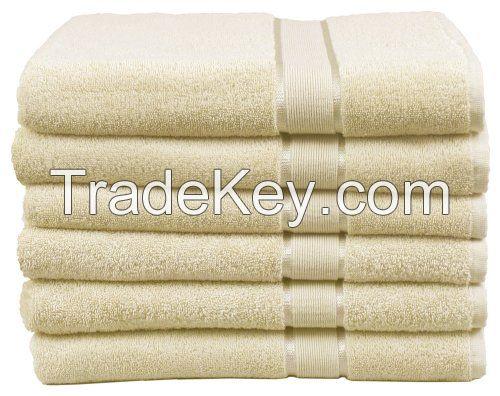 white hotel towel
