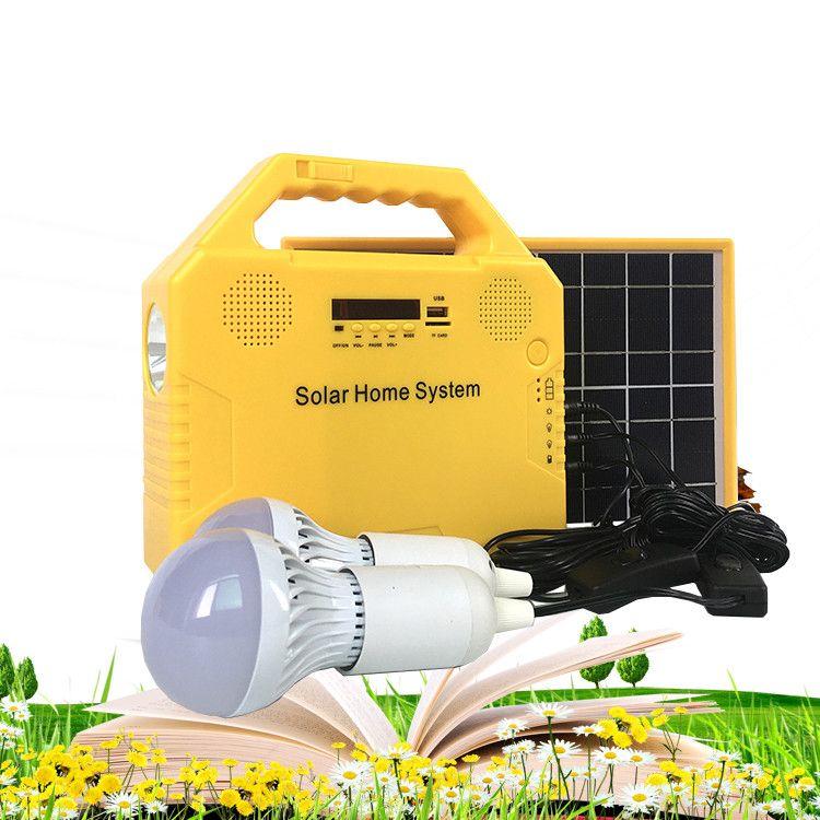 Good quality solar energy lighting kit with music radio bluetooth
