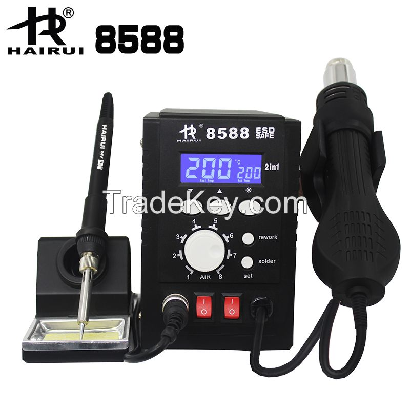 2 in 1 Soldering Iron Station HAIRUI 8588
