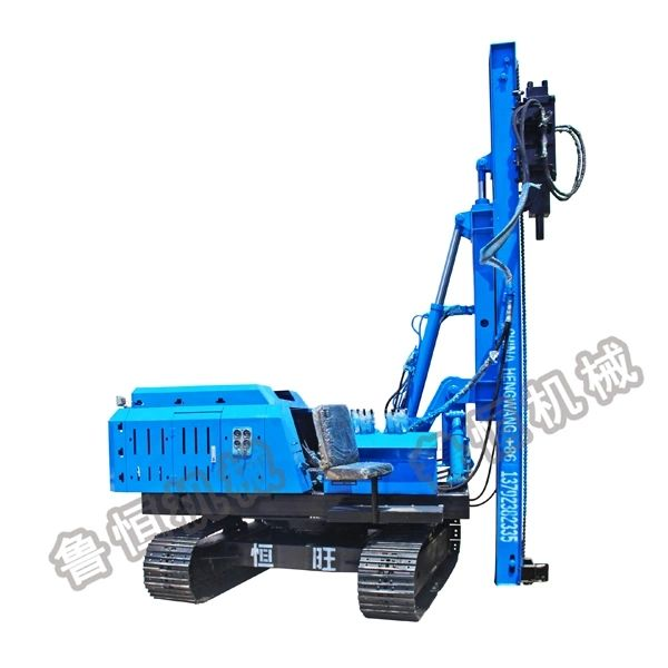 solar press pile driver for photovoltaic