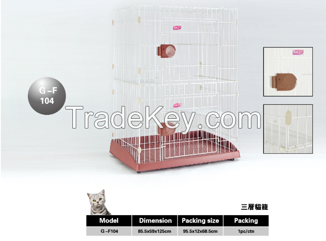 Pet Product Cat Cage Three Layer Cage