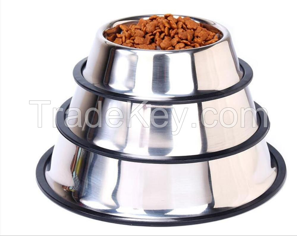 Pet Bowls for Dogs Cats Non-Slip Bottom