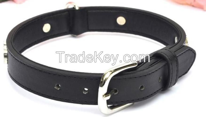 Soft Touch Leather Collar Small Pet Dog Collars