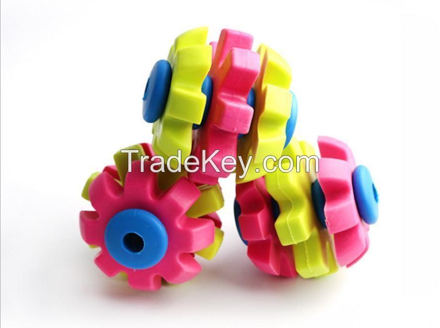 Multi Color Puzzle Molar Rubber Dog Puppy Toy