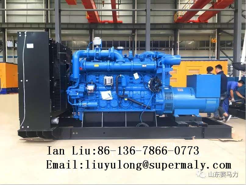 Customized 500kw gas generator set with YUCHAI engine