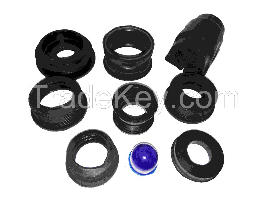 Rubber O-ring , Rubber Bush, Rubber Gasket, Rubber oil seal, Rubber-metal bonded parts, Rubber grommet, Rubber Bellows