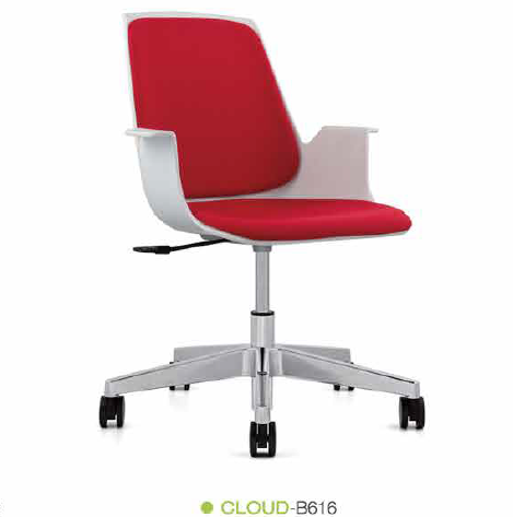 Modern Design Comfortable Plastic Study School Chair With Writing Pad