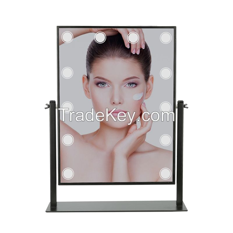 Adjustable Brightness Touch Screen LED Makeup Mirror with Imported Glass Lenses High Quality Adjustable Brightness Touch Screen LED Makeup Mirror with Imported Glass Lenses