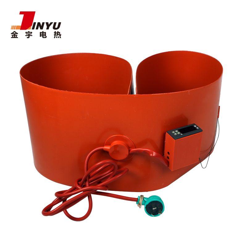 Flexible custom silicone rubber drum heater heating blanket