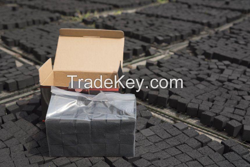 Natural smokeless odorless tasteless coconut shell shisha coal 25*25*25mm