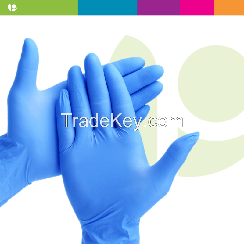 Disposable nitrile gloves level A powder free latex wear resistant rubber labor protection gloves