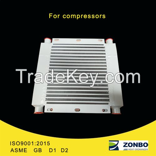 Air cooler heat exchanger for all kinds of compressors