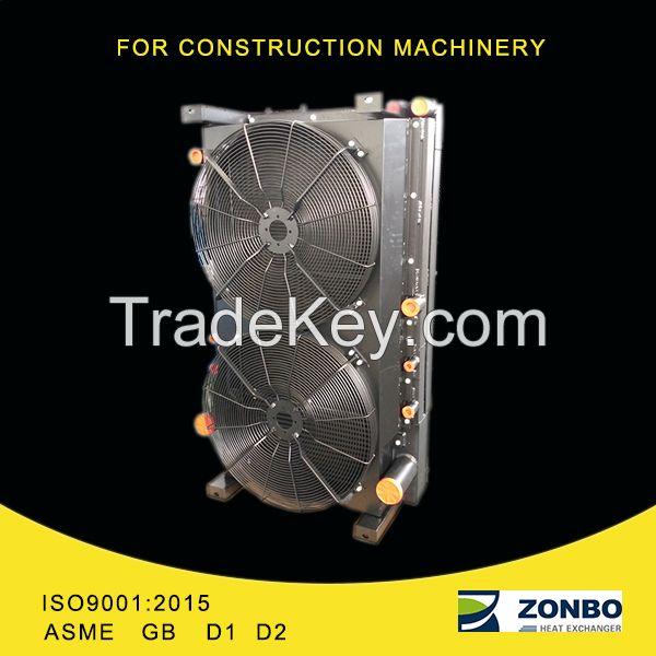 Aluminum plate fin heat exchanger for loader, roller, pavior,bulldozer