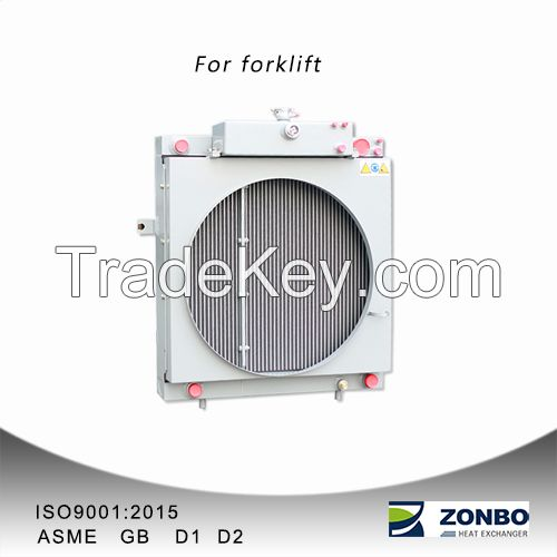 Aluminum plate fin heat exchanger oil cooler radiators for forklifts