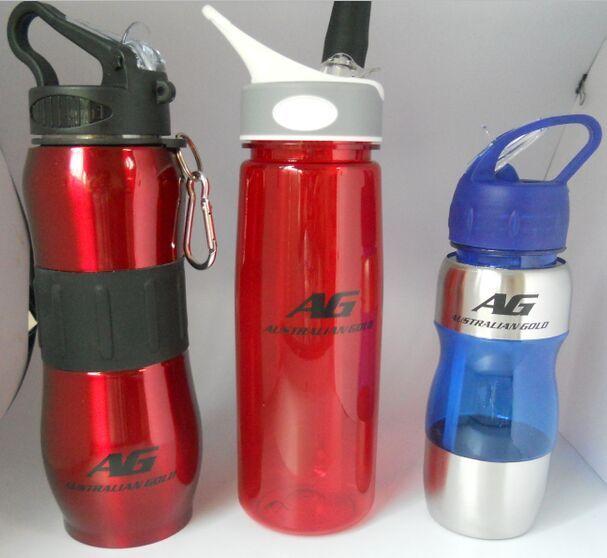 BPA free plastic sport drinking water bottle tritan transparent straw traveling portable bottle
