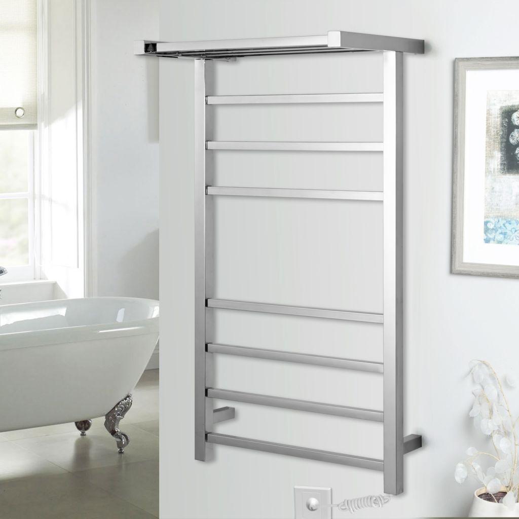 square tube electric heated towel rack