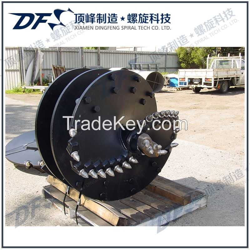 Hard rock drilling auger