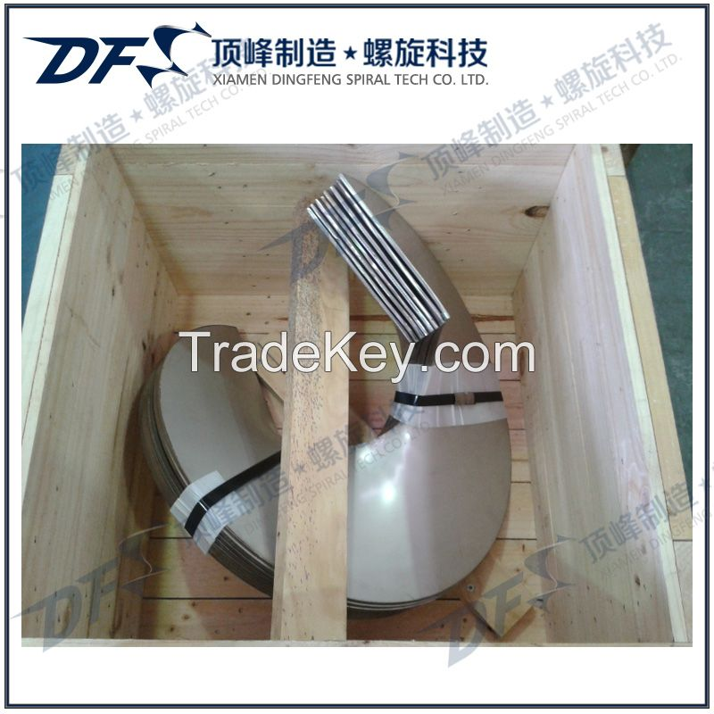 Sectional screw flights for Concrete Mixer