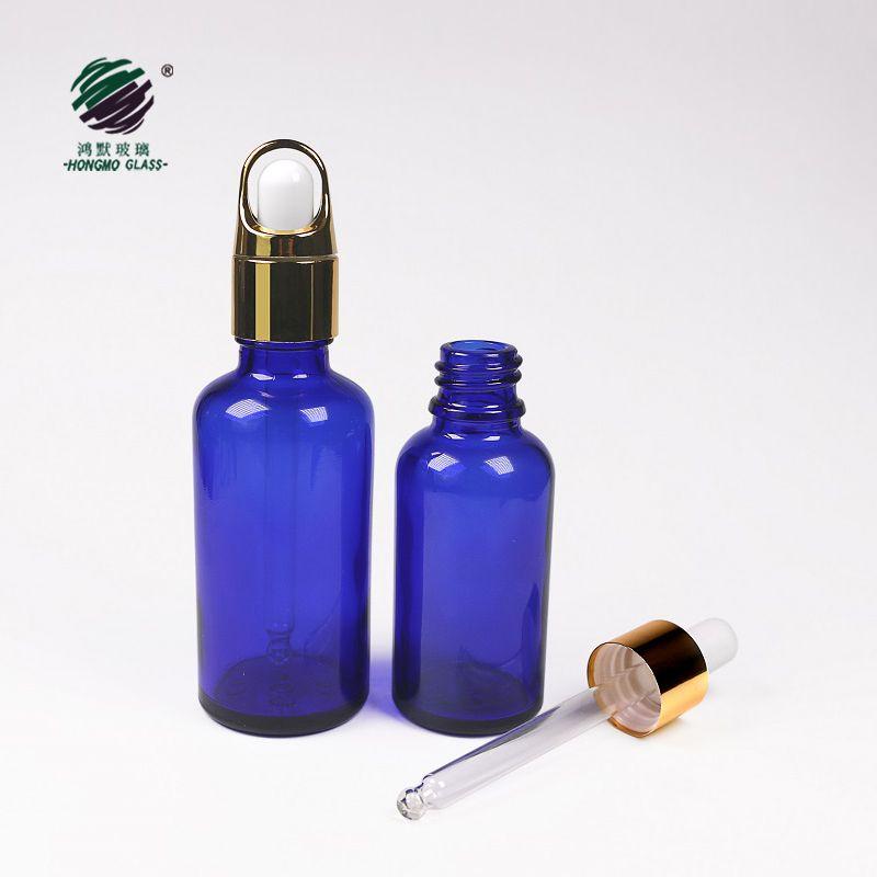 empty cobalt blue perfume glass bottles 50ml glass e-liquid bottle dropper 100ml free samples