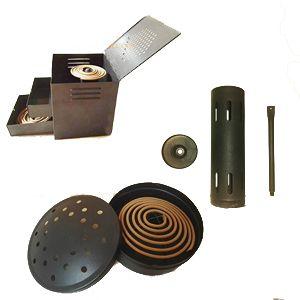 Australia Metal Sandalwood Mosquito Stick Coil Holder Diffuser Incense Burner