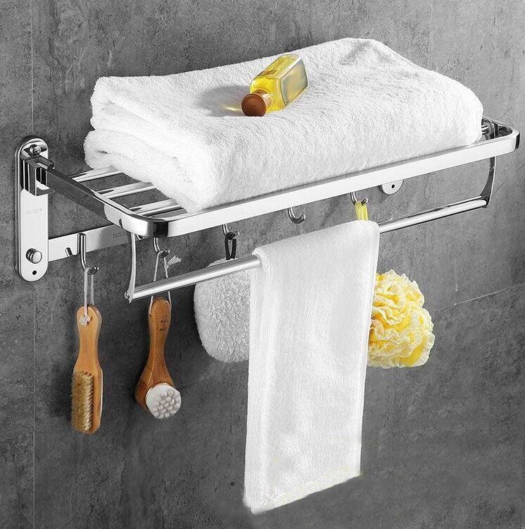 Mirror surface sus 304 stainless steel towel rack