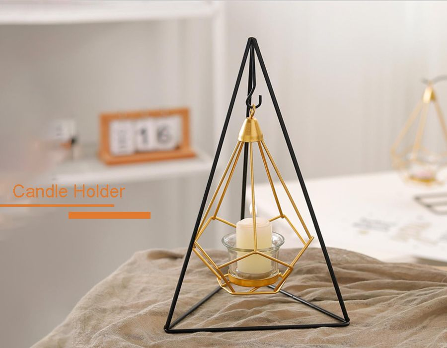 Triangle Ins Metal Candle Holder