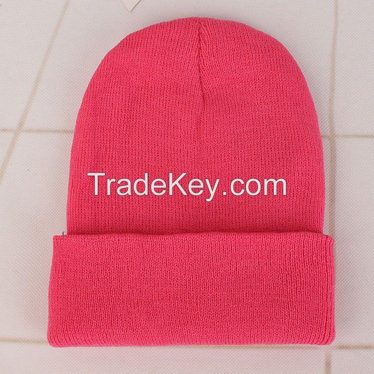 Customizable Skull Caps Acrylic Wool Knitted Beanies Hats