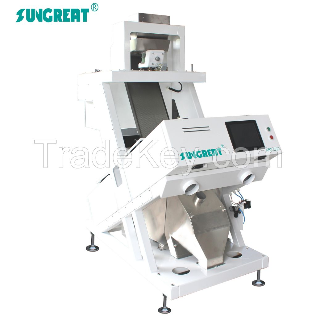 high output rice color sorter with CCD camera