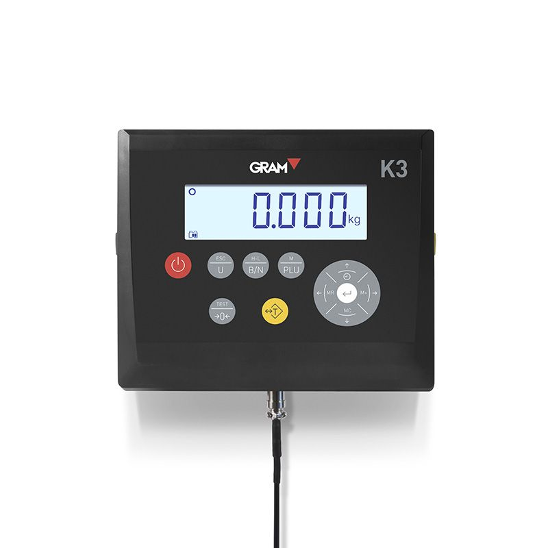 Weighing indicator K3 with rechargeable battery and LCD display