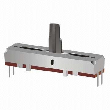 slide type potentiometer with case