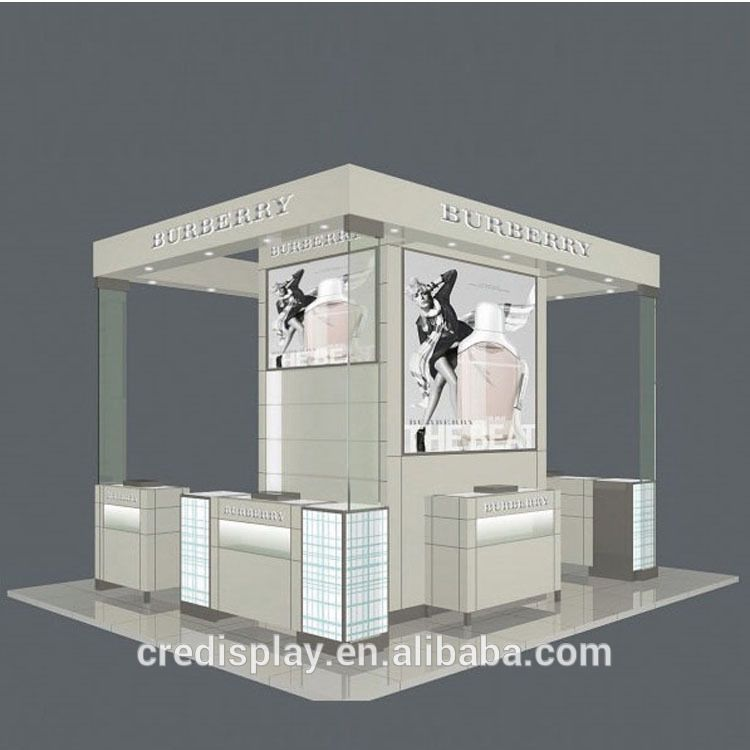 supermarket shopping mall store costomlized size logo Cosmetic Display Case
