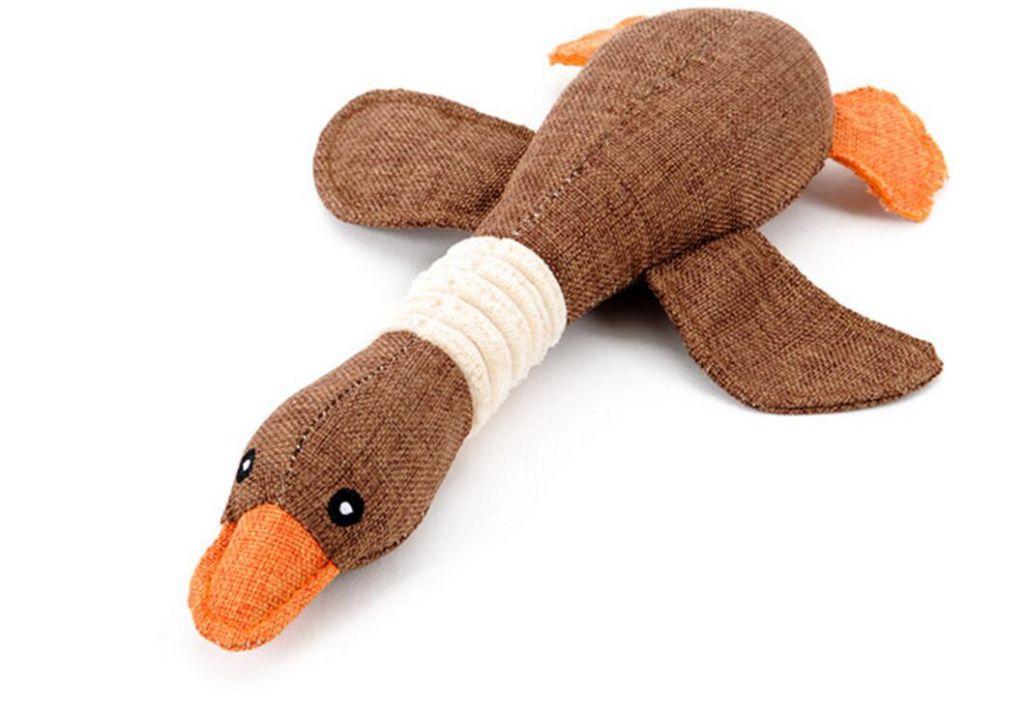 Swan Design Puppy Dog Chew Funny Sound Plush Pet Toys PT100
