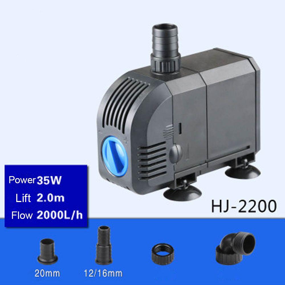 35W 2000L/H  Lift 2m,Multi Function Submersible Fountain Pump for Aquarium - Black HJ2200