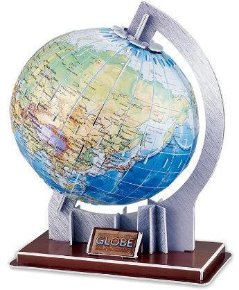 3D Puzzle Globe Paper Dimensional Model Assembled Educational Toys for Children Jigsaw Kids Toys