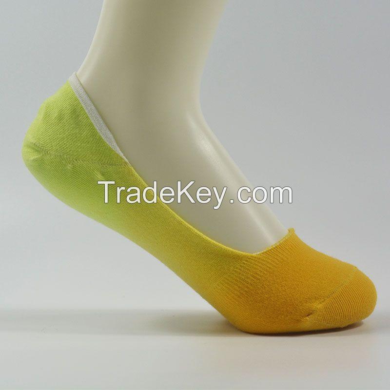 No show socks, Women's socks, dip dye no show socks, cotton socks, sport socks, fashion apparel, Customized socks, fashion socks