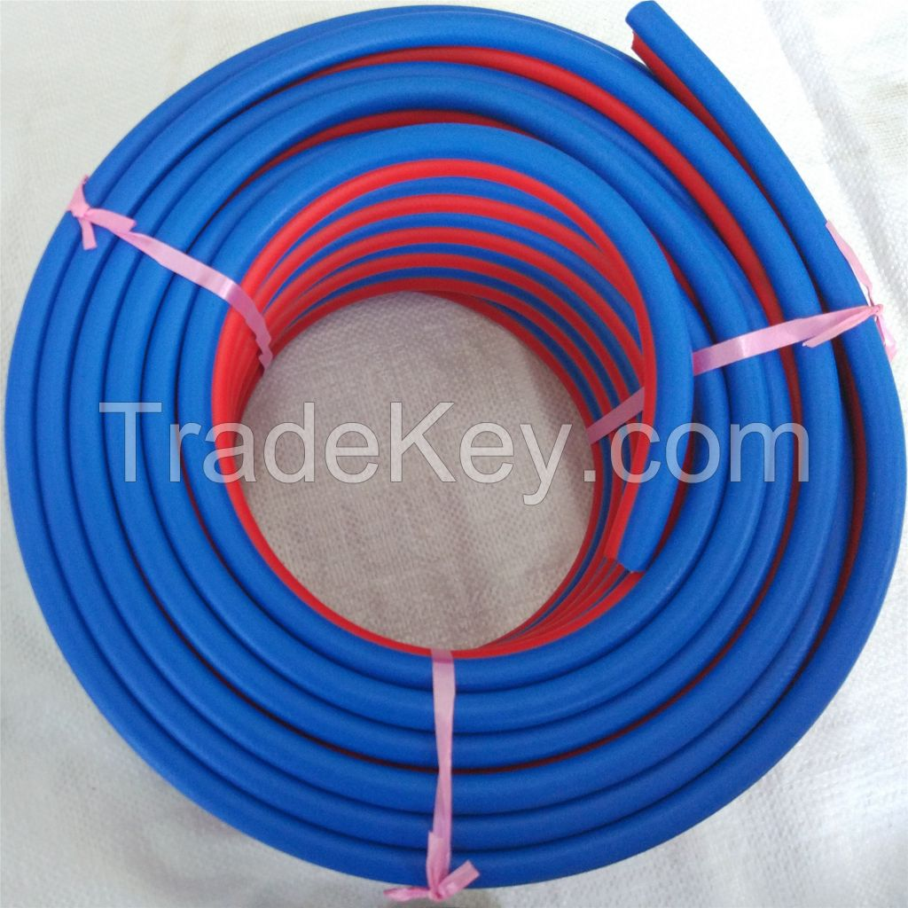 high quality 8mm 10mm pvc rubber Oxyen Acetylene blue and red twin welding hose