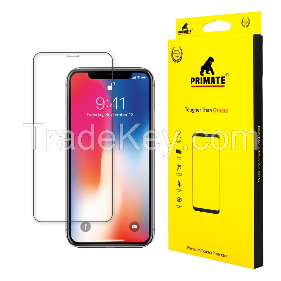 Double Tempered Glass Premium Full Screen Protector For iPhoneX