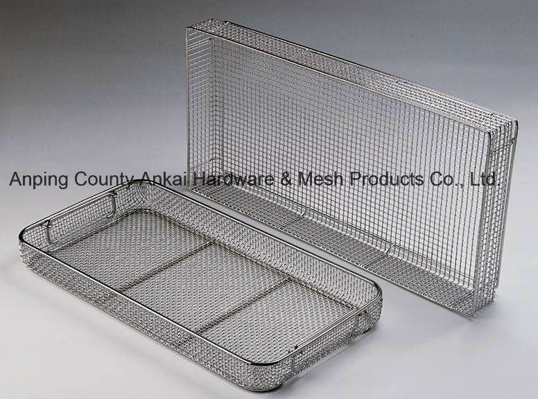Stainless Steel Wire Mesh Cleaning Basket