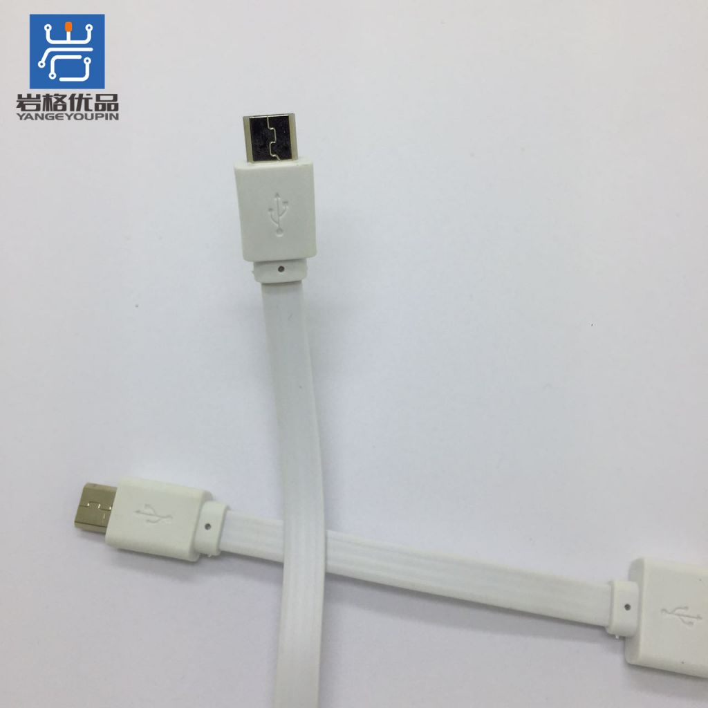 USB Micro cellphone data cables, charging wires , male to male short surface Mobilephone Data Sync Charger cables
