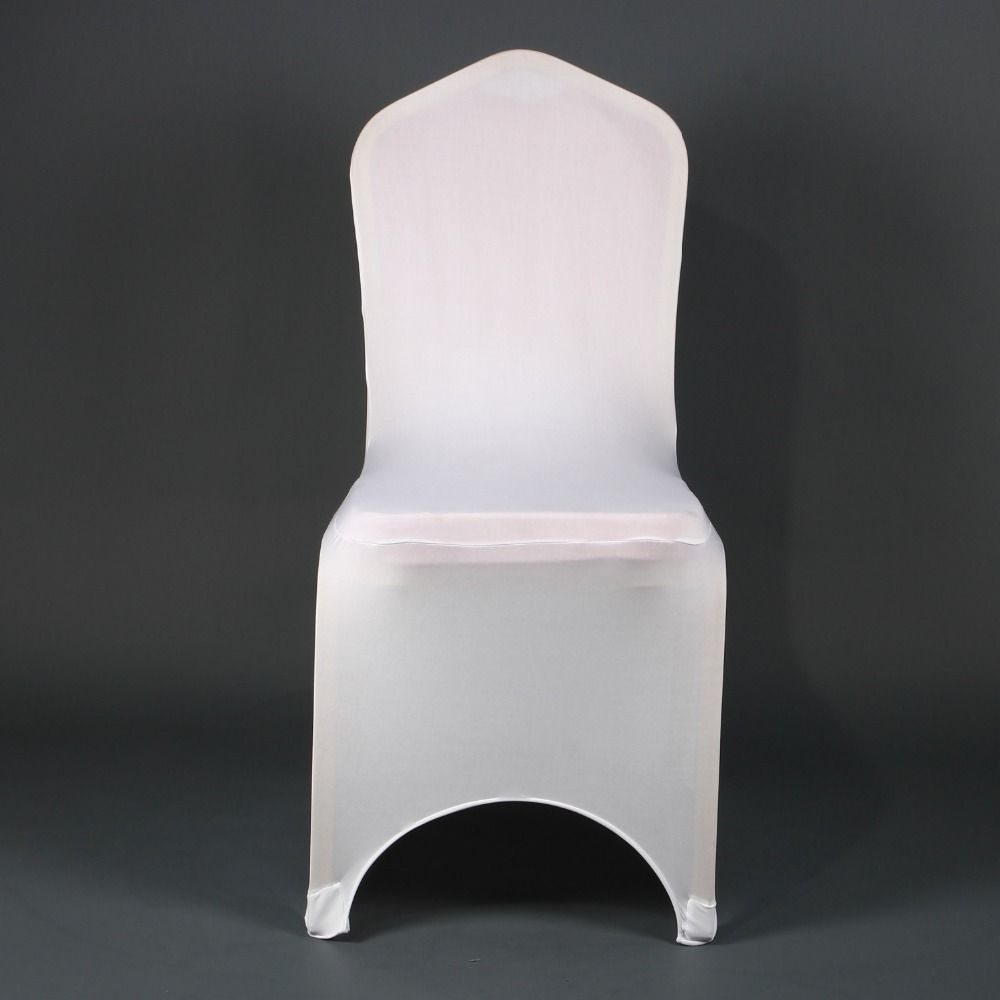 wholesale universal cheap spandex lycra stretch chair cover to buy with arched front for sale