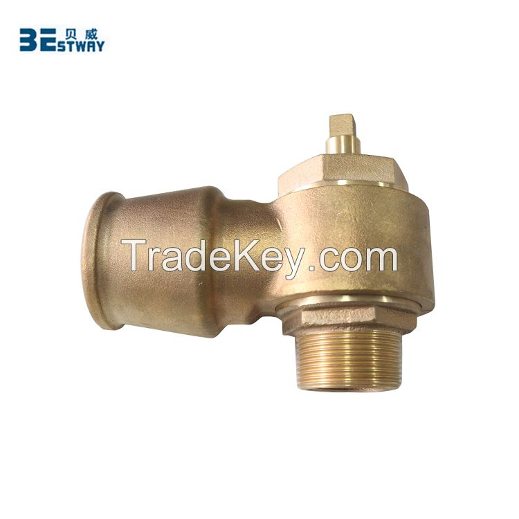 Bronze self tapping screw down valve ferrule with straps