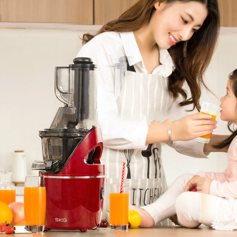 Original juicer, juicer, home fully automatic, slow, multi-function soybean milk machine, large caliber juicer,A8S red