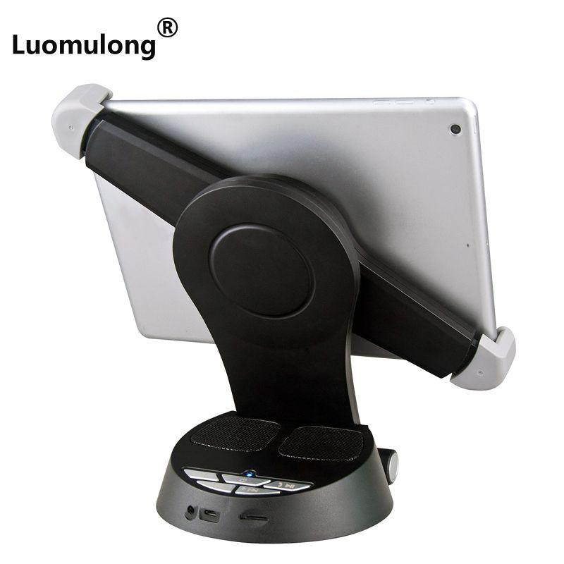 OEM logo desktop bluetooth speaker tablet PC holder