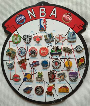 Basketball Boston Celtics Los Angeles Lakers All Team badges pins 33 Pcs