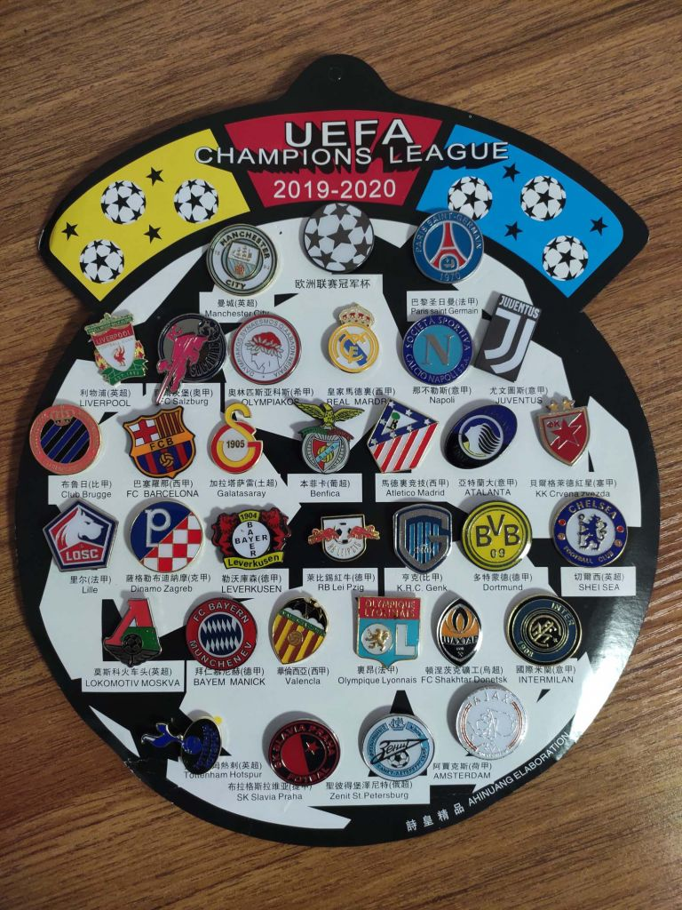 UEFA CHAMPIONS LEAGUE  Juventus Real Madrid Football BADGE PIN